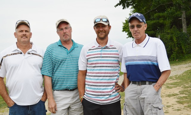 The team, from left are Jim Spear, David Leeman, Eddie McCarty and Darryl Leeman, had the lowest gross score at the Whitefield Lions Club's 12th annual golf tournament held July 14 at Sheepscot Links in Whitefield.