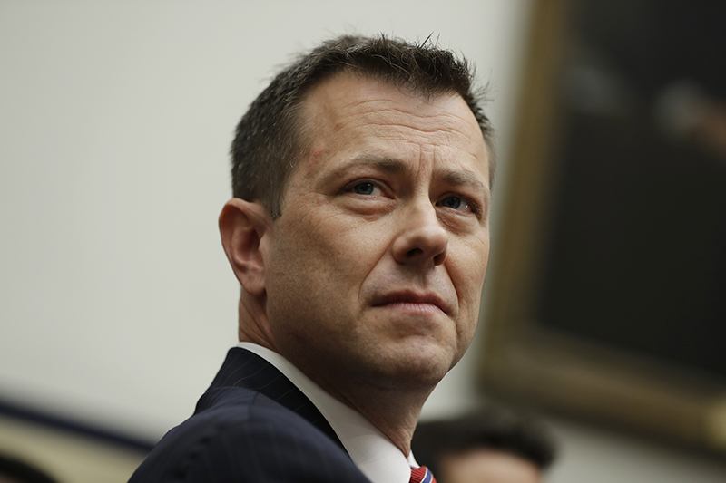 """FBI Deputy Assistant Director Peter Strzok is seated to testify before the the House Committees on the Judiciary and Oversight and Government Reform on July 12 during a hearing on """"Oversight of FBI and DOJ Actions Surrounding the 2016 Election,"""" on Capitol Hill."""