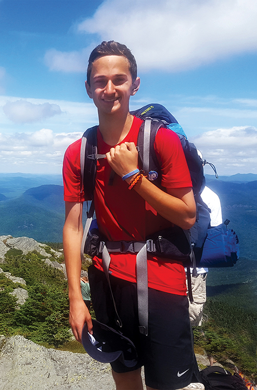 "Anthony Romano, who raised over $5,000 in his ""Hike for a Cure"" to benefit the Hearts for Ezra Foundation, has been chosen to receive the 2018 Old Hallowell Day Barry S. Timson Award for Community Service.  Jeff Romano photo"
