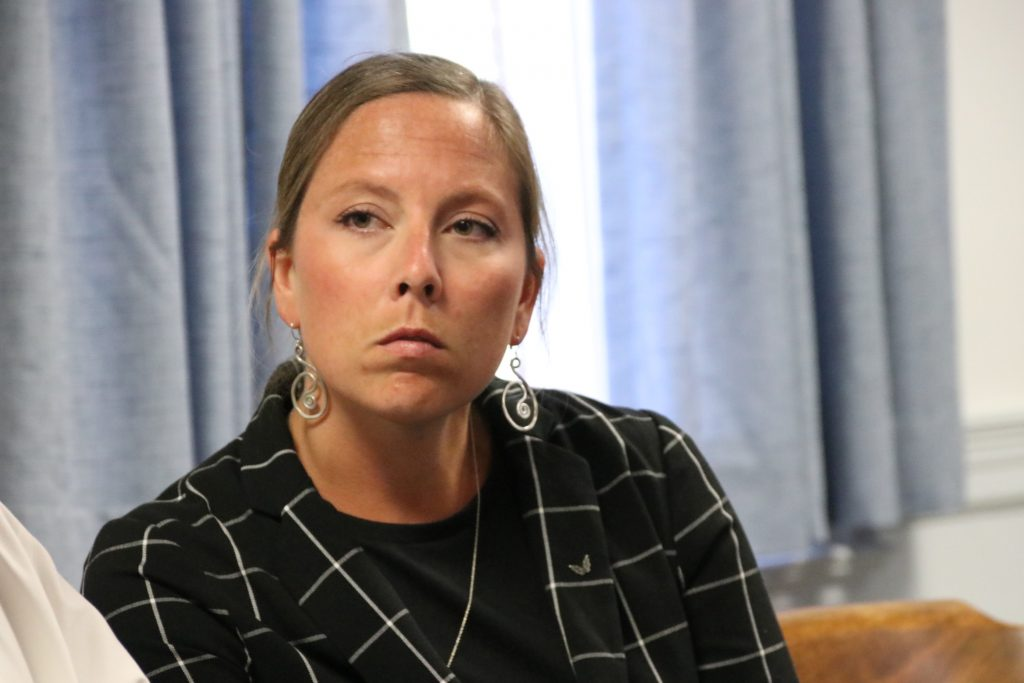 Former Kennebunk High School teacher Jill Lamontagne appeared at York County Superior Court in Alfred on Monday for a hearing, but it was continued until July 17, following jury selection for her trial on 14 sex-related charges involving a student. The trial is scheduled to begin July 23.