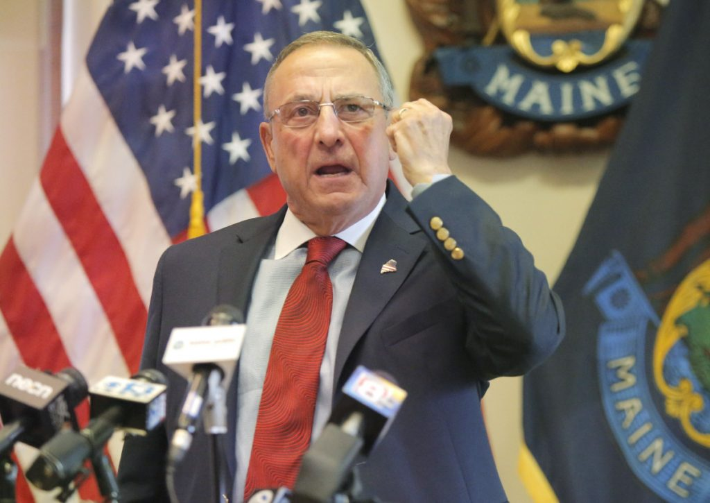 "Gov. Paul LePage has vetoed Medicaid expansion seven times during his two terms. He said Thursday, ""Nobody can force me to put the state in red ink."""