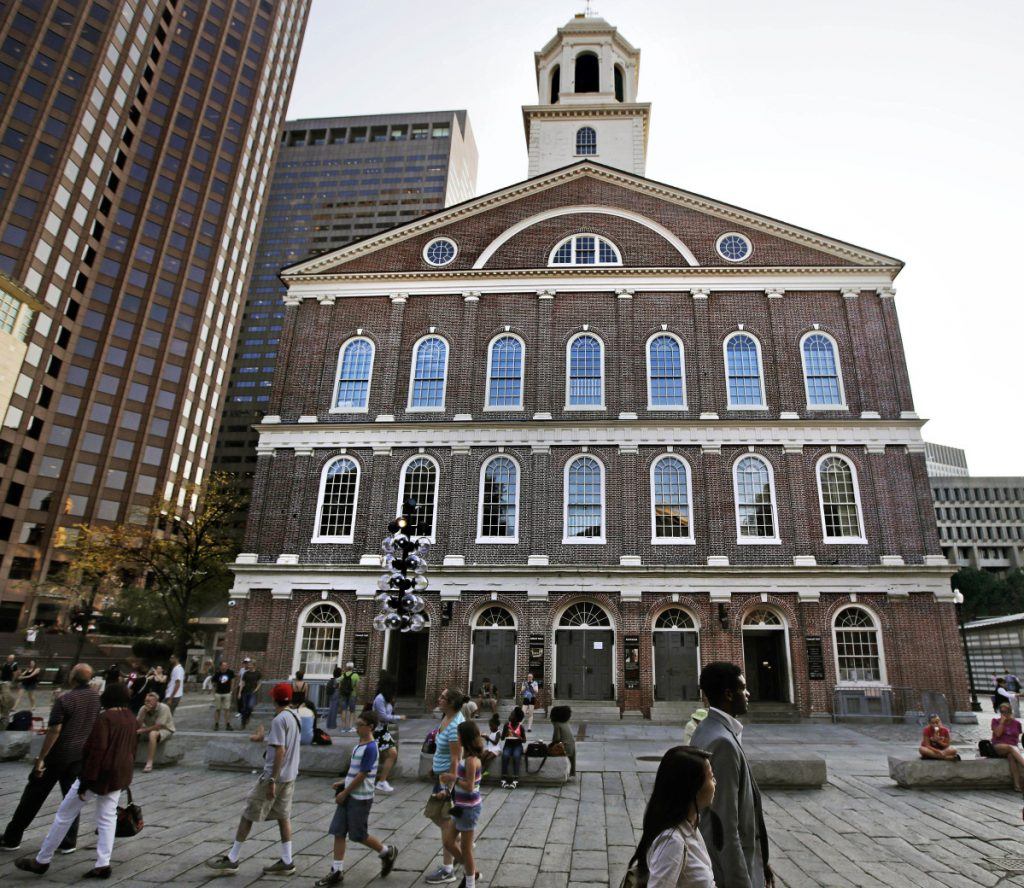 Kevin Peterson is organizing a business boycott and a sit-in to urge the city to rename the famed Faneuil Hall for Crispus Attucks, a black man killed during the 1770 Boston Massacre.