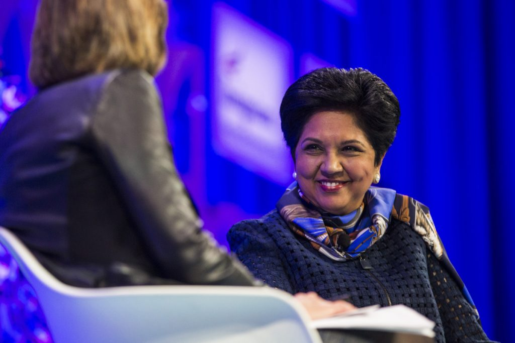 Bloomberg photo by Zach Gibson Indra Nooyi will step down as the CEO of PepsiCo.