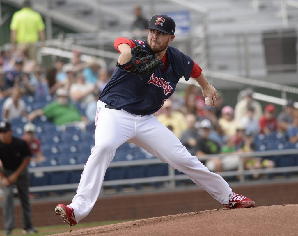 Portland's Daniel McGrath allowed just one run in six innings on Thursday at Hadlock Field in beating Trenton 3-2 for a three-game sweep.