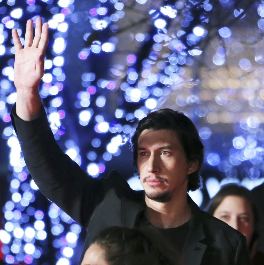 "Adam Driver, who plays Kylo Ren in the ""Star Wars"" films, arrives at the Tokyo premiere of ""Star Wars: The Force Awakens."" He says he recalls Ku Klux Klan rallies as a child growing up in Mishawaka, Ind."