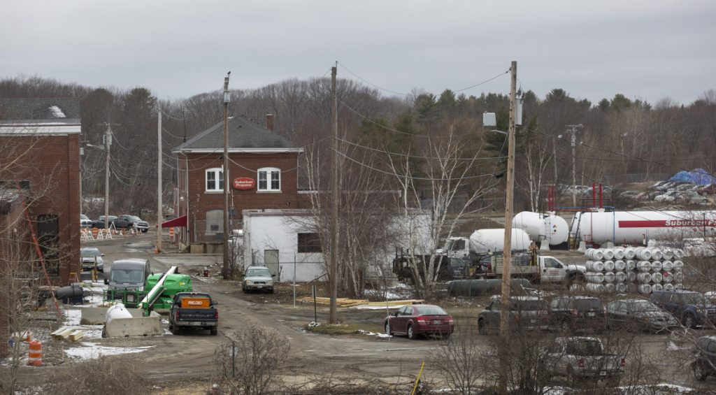 The building renovation to be partly funded by a FAME loan is part of a larger project to relocate Suburban Propane's facility, above, from Thompson's Point.
