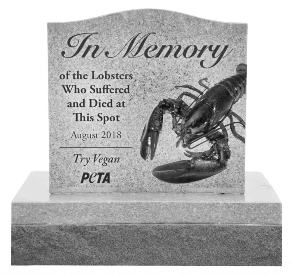 An illustration submitted by PETA to state highway officials shows the proposed granite monument.