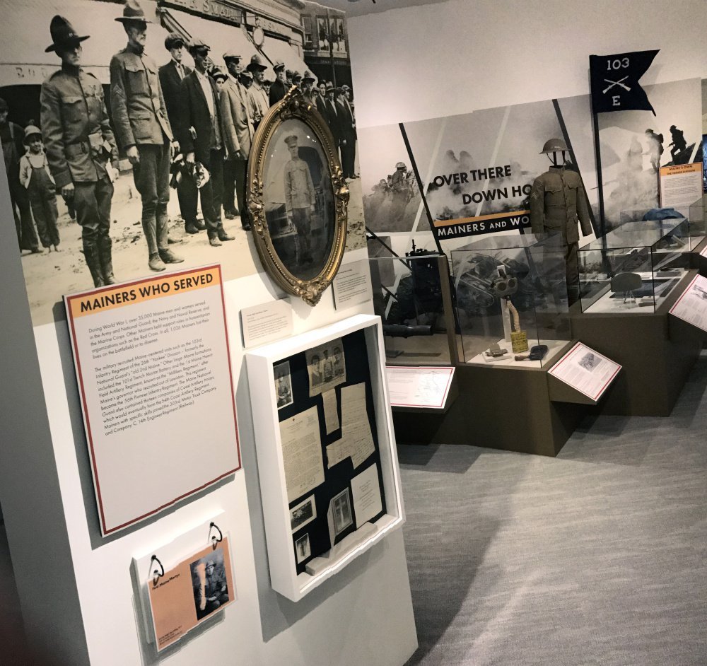 "An overall view of the ""Over There and Down Home: Mainers and World War I"" exhibit in November 2017 at the Maine State Museum in Augusta."
