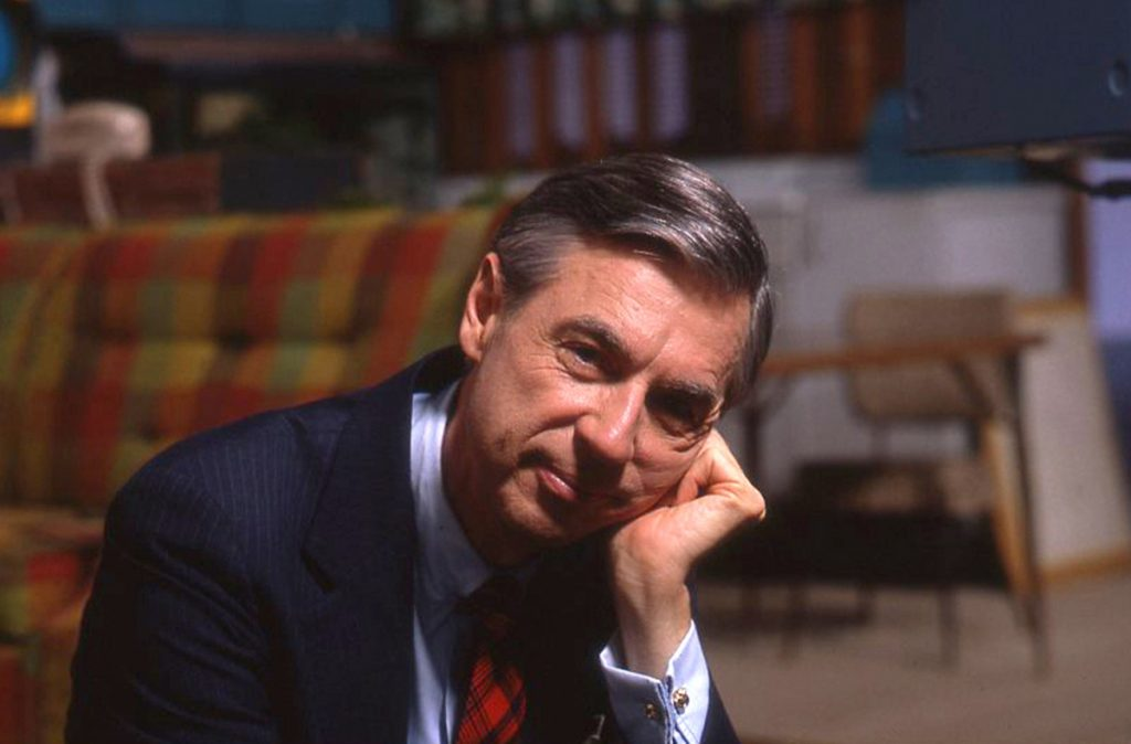 """This image released by Focus Features shows Fred Rogers on the set of his show, """"Mr. Rogers Neighborhood,"""" from the film, """"Won't You Be My Neighbor?"""""""