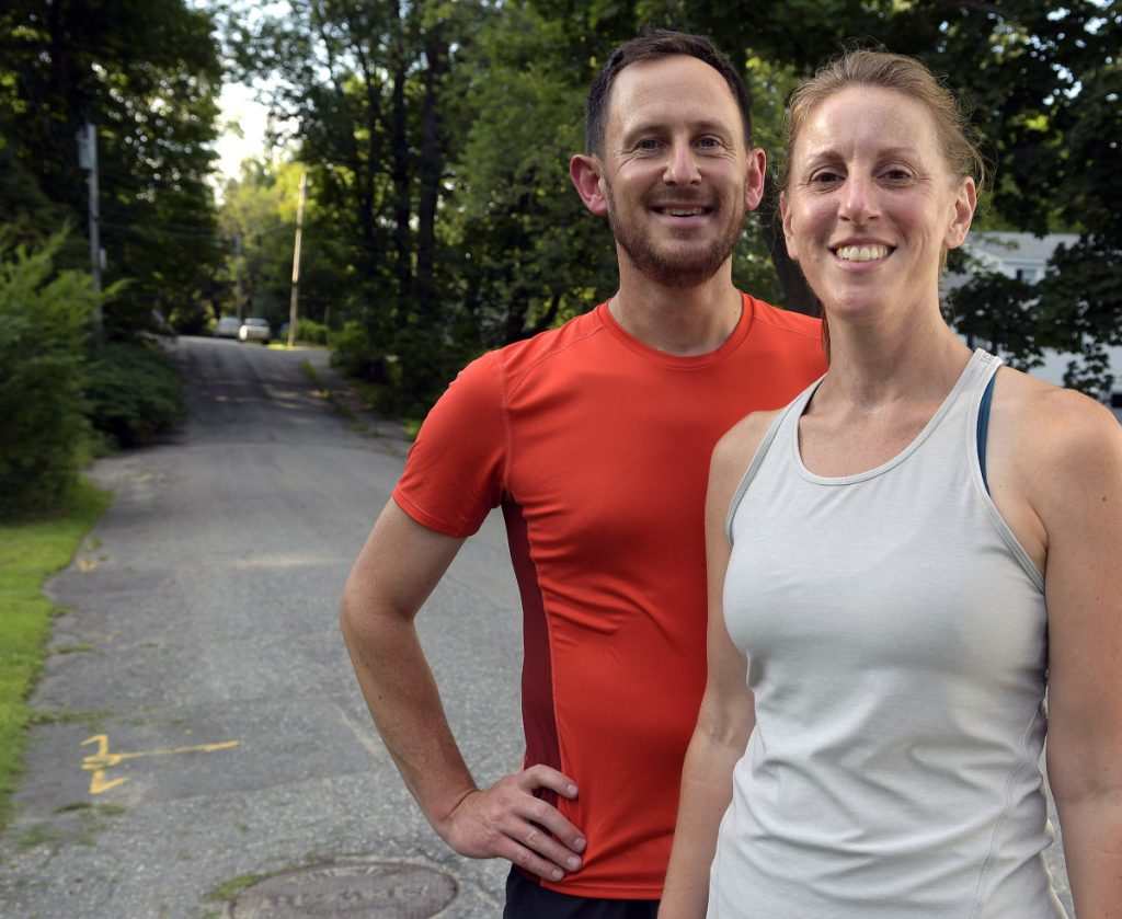 Jeff and Kerry Mansir of Gardiner will run in the Beach to Beacon on Saturday.
