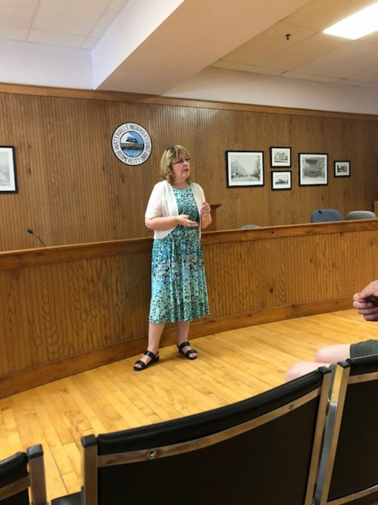 Catherine Weeks was chosen Thursday evening to run as a Republican for the Ward 1 seat on the City Council.