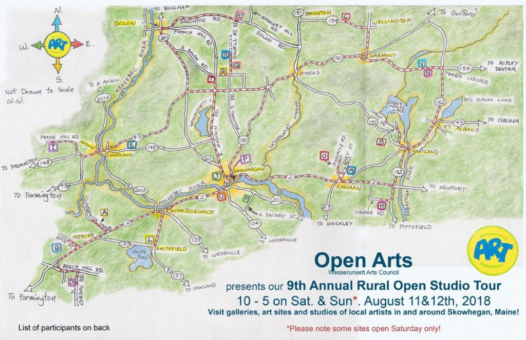 Central Maine open art studio tour to show where area artists live