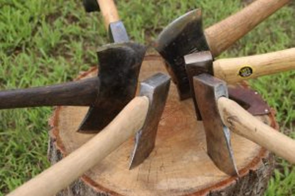 Axes, in all types and sizes, took center stage Saturday at the Maine Axe and Saw Meet Up in Waterboro.