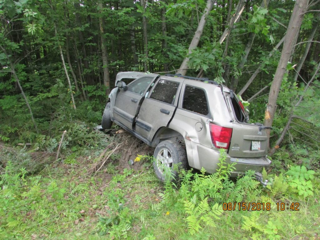 Photo courtesy of Maine State Police photo A Fairfield man died in a single-vehicle crash Wednesday morning on Interstate 95 in Waterville.