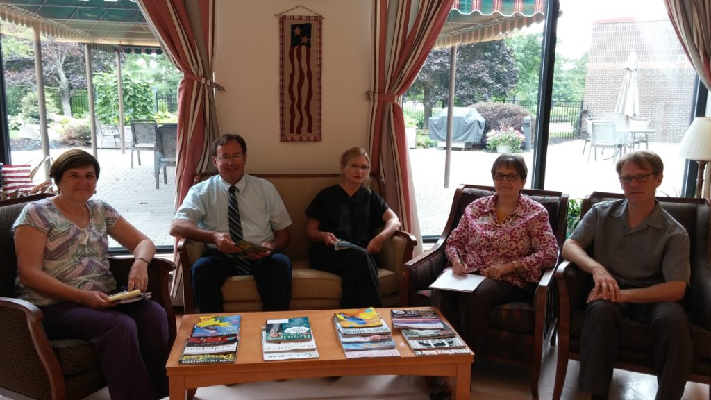Training partners from Augusta Adult Education and Western Maine Community Action recently met with administrative staff of Maine Veterans' Homes in Augusta to plan a fall Certified Nurses Training. The fast-paced curriculum will offer two weeks of Work Ready training at Augusta Adult Education, 33 Union St., Augusta, followed by 12 weeks of classroom and clinical training to meet the 180 hours required for certification. The course, valued at more than $2,000 per participant, is no cost to candidates meeting eligibility requirements for Workforce Innovation and Opportunity Act funding provided by WMCA. Training will be held at the MVH facility located at 310 Cony Road, Augusta. From left are Becky Thayer, Maine Veterans' Homes' human resource manager; Zane Clement Augusta Adult Education director; Rhona Suga, Maine Veterans' Homes' director of Nursing; Patti Saarinen, Western Maine Community Action Central/Western Maine Program coordinator; and Myles Robert, Western Maine Community Action, employment and training specialist. For more information, call 626-2470 or 713-7045.