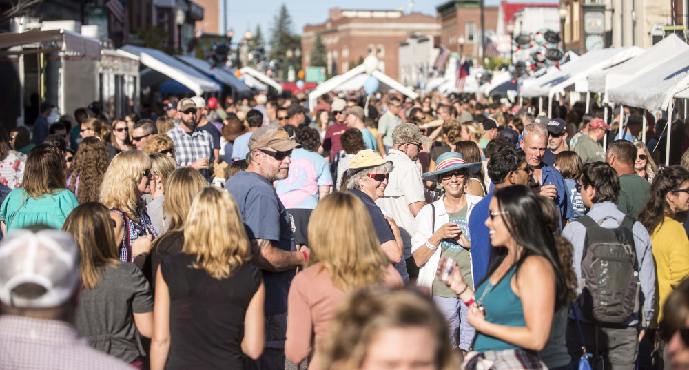 A crowd packs Water Street in 2017 for the second annual Skowhegan Craft Brew Festival in downtown Skowhegan. The third annual event is scheduled for Saturday.
