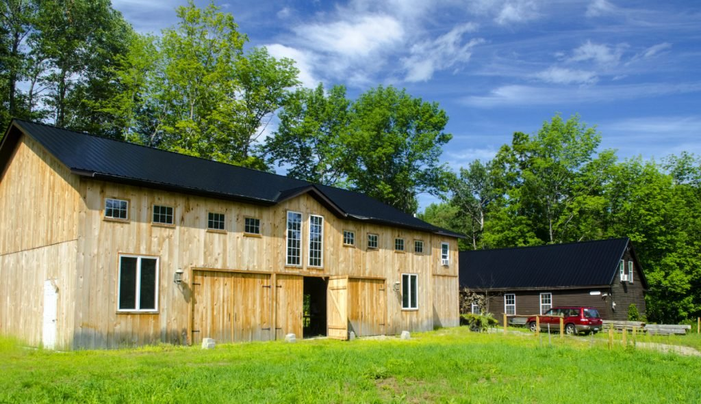 Bob Bittar's home and new barn are seen Aug. 9 in Readfield.
