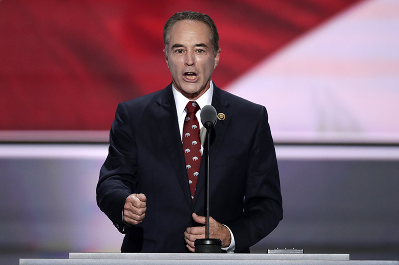 Rep. Chris Collins, R-NY., nominates Donald Trump  for president at the Republican National Convention in 2016.