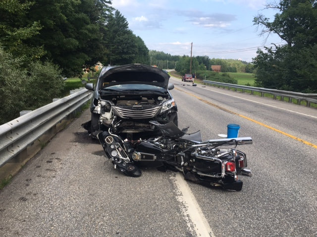 A Roxbury man was killed Wednesday in a motorcycle crash on Route 2 in Hanover.