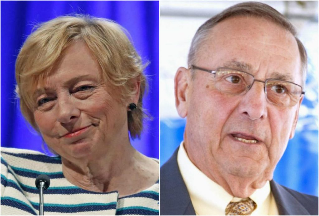 Attorney General Janet Mills and Gov. Paul LePage