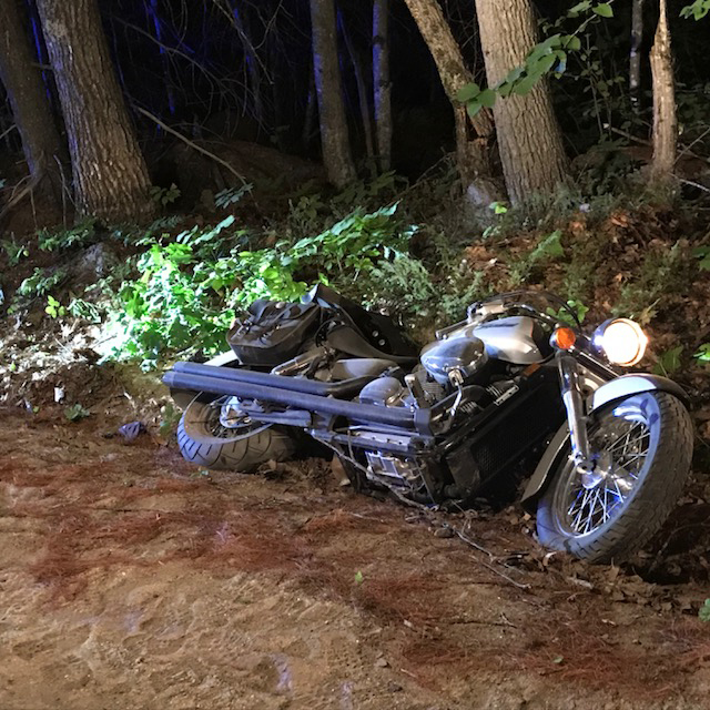 A motorcyclist died Friday night after his motorcycle left Whittemore Road in Oxford.