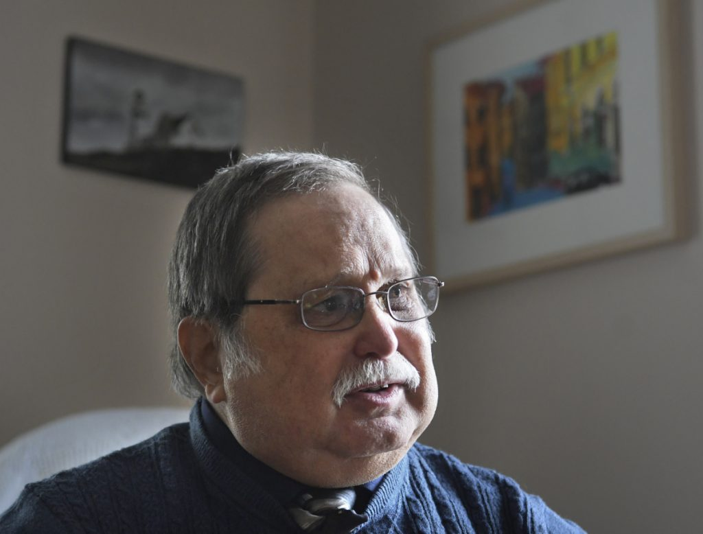 Keith Ludden, of oralhistoryandfolklife.org, at his Augusta home on Sept. 10.