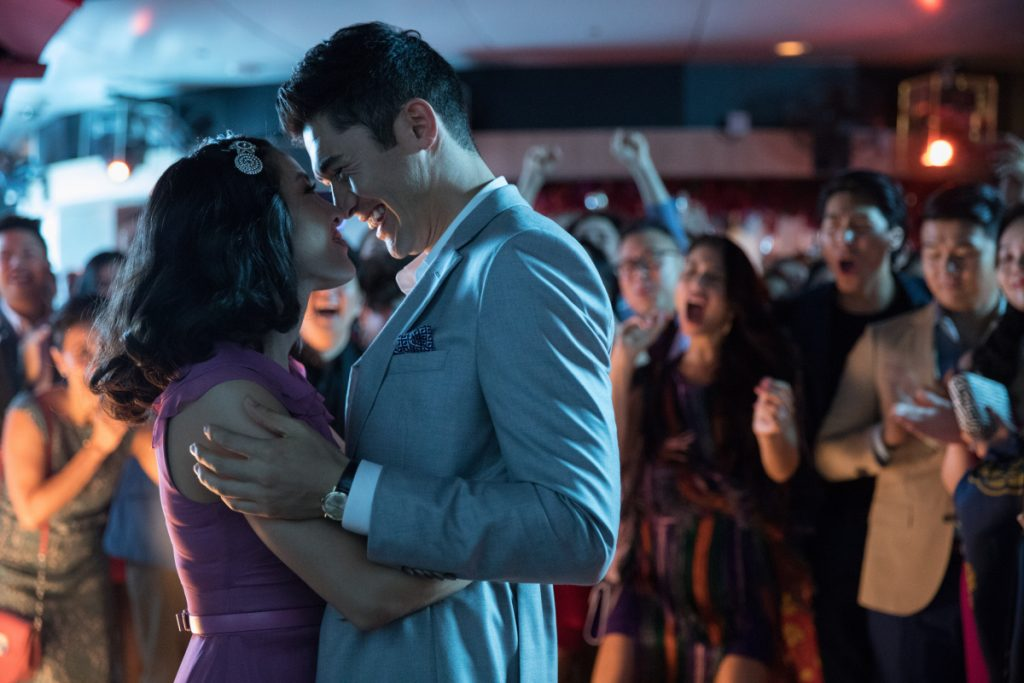 "Constance Wu, left, and Henry Golding in ""Crazy Rich Asians."""