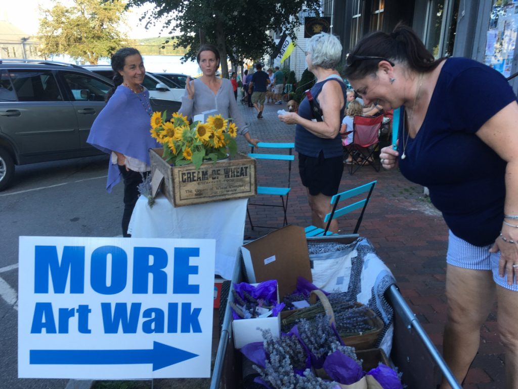 Cottage Lavender: The sidewalks are always blooming during Wiscasset Art Walk. In August, Cottage Lavender Co. greeted visitors with all things lavender and sunflowers. The last Art Walk is set for Thursday, Sept. 27.