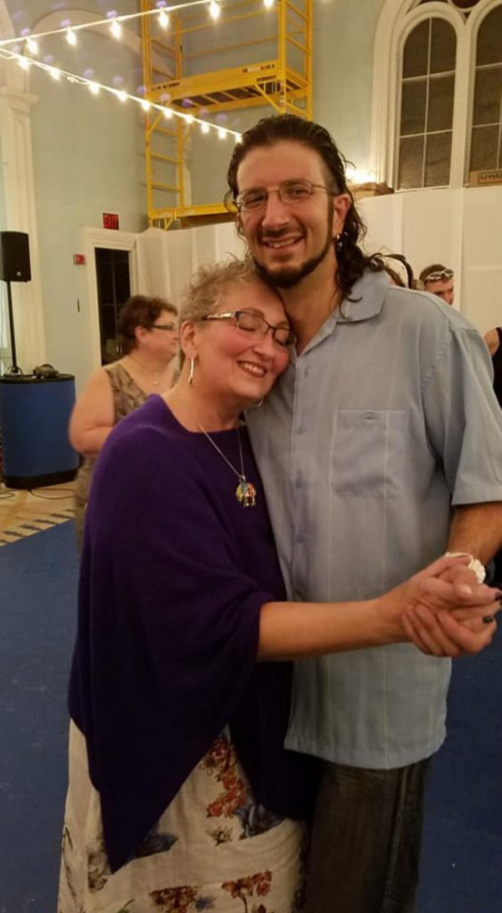 Carla McGuire and her son Anthony Johnston at Carla's going-away party. Photo by Connie Sharisky