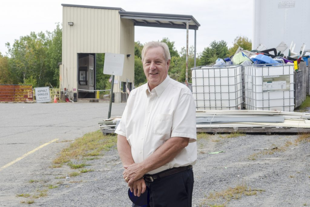 George MacDonald, who recently won an award for long career that has involved environmental projects, poses for a portrait Thursday at the Belgrade transfer station.