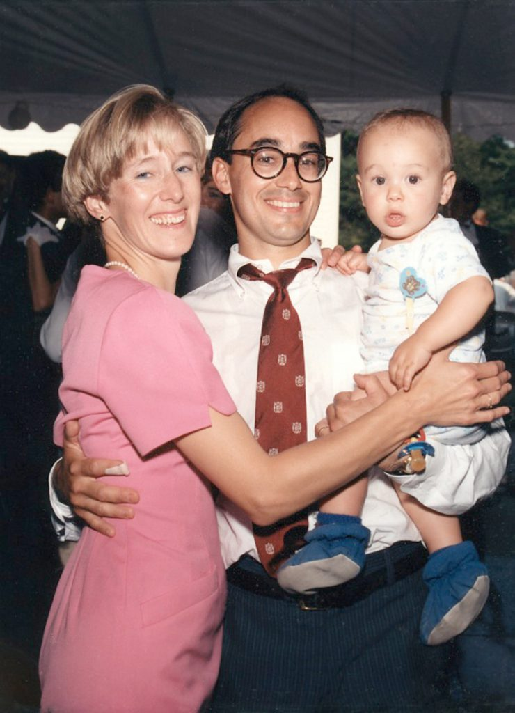 Bruce Poliquin with his wife, Jane, and their son, Sam, are shown in this family photo. Jane and her father drowned in Puerto Rico when Sam was 16 months old.