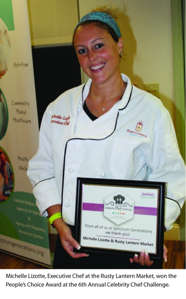 Michelle Lizotte, executive chef at the Rusty Lantern Market, won the People's Choice Award at the Sixth annual Celebrity Chef Challenge.