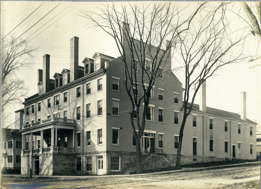 Photo from the collection of the Hubbard Free LibraryWhat was then known as the Hallowell House at the corner of Second and Winthrop streets in Hallowell was built in 1832.