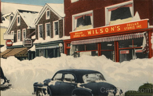 Wilson's Dollar Stores - Blizzard of Feb. 18, 19, 1952 Winthrop, ME