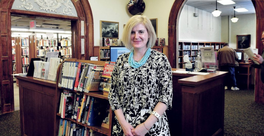 Sarah Sugden, director of the Waterville Public Library on March 20, 2017. Sugden announced Wednesday she will be leaving as director in early November to become director of a library in Wisconsin.