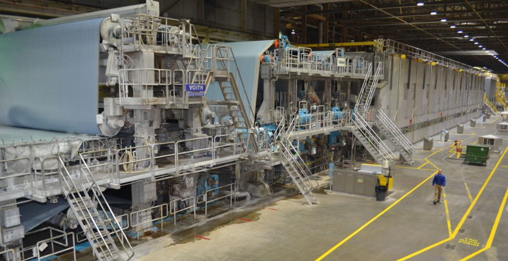 The Sappi Somerset Mill in Skowhegan has finished rebuilding its Paper Machine 1.