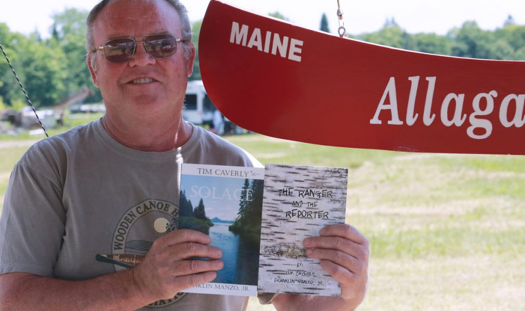 Maine author Tim Caverly at Maple Meadows Farm Fest in 2016.
