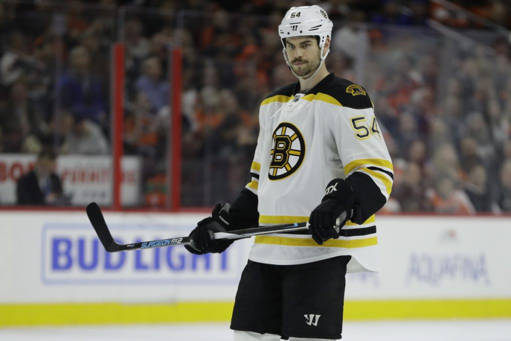 The Bruins traded veteran defenseman Adam McQuaid to the New York Rangers on Tuesday for defenseman Steven Kampfer and two draft picks.