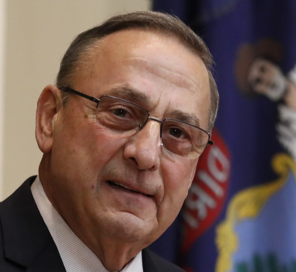 """Democratic Rep. Jared Golden, top, teamed up with Republican Gov. Paul LePage on a bill to fast-track some veterans pursuing a nursing license. """"I'm glad this was done on a bipartisan basis,"""" Golden said."""