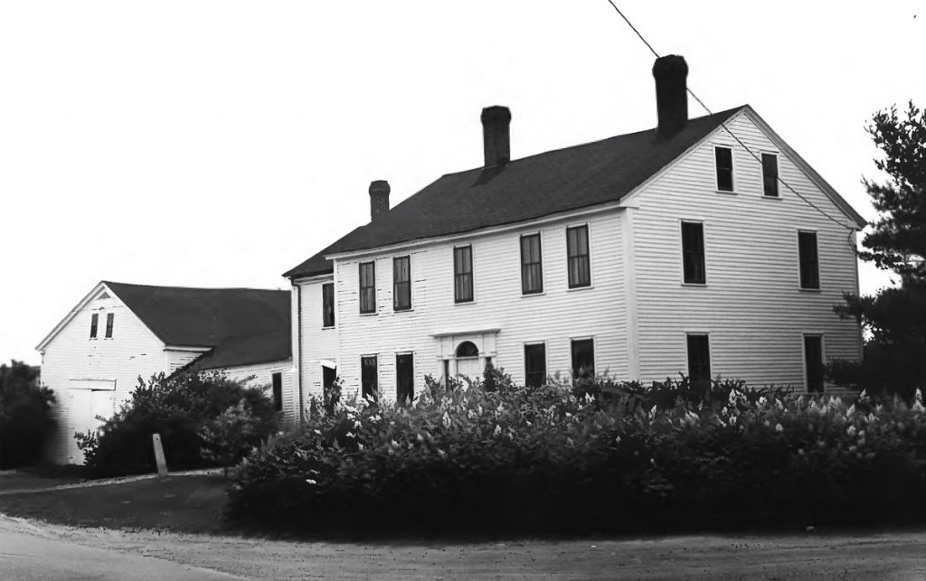 The former Cushman Tavern on the Sabattus-Lisbon town line, as seen in 1979, when Maine historian Frank Beard applied for the property to be listed on the National Register of Historic Places. It was approved that year.