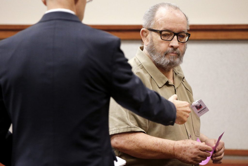 A former Jesuit priest, James F. Talbot, appears in court last year. He is accused of sexually assaulting a boy nearly 20 years ago in Freeport. Jury selection is set to begin Monday.