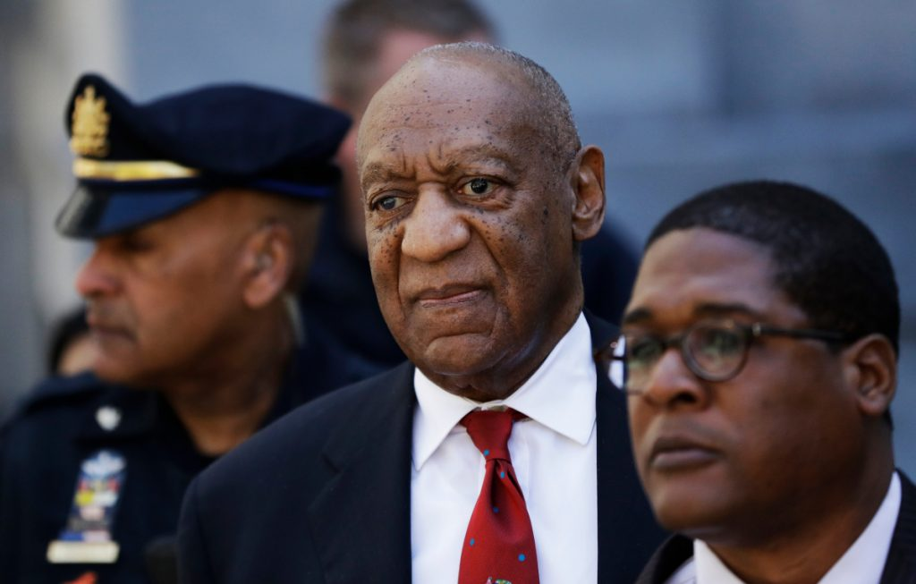 Bill Cosby leaves court in Norristown, Pa., in April after being convicted of drugging and molesting a woman.