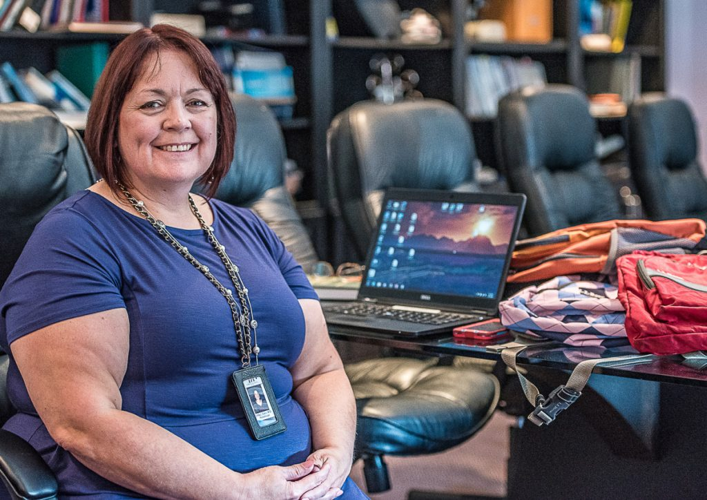 Dr. Linda Glass of Pediatric Associates of Lewiston says backpacks, including how to wear them, are discussed during annual physical exams. The American Academy of Pediatrics recommends backpacks weigh no more than between 10 percent and 20 percent of a student's body weight.