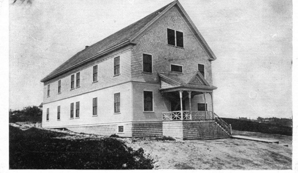 After Sebenoa Hall was dedicated in 1908, Bath-area residents attended events by taking a ferry across the Kennebec River. The building was sold to a private party in 1947 and was used to store rental equipment and antique cars.