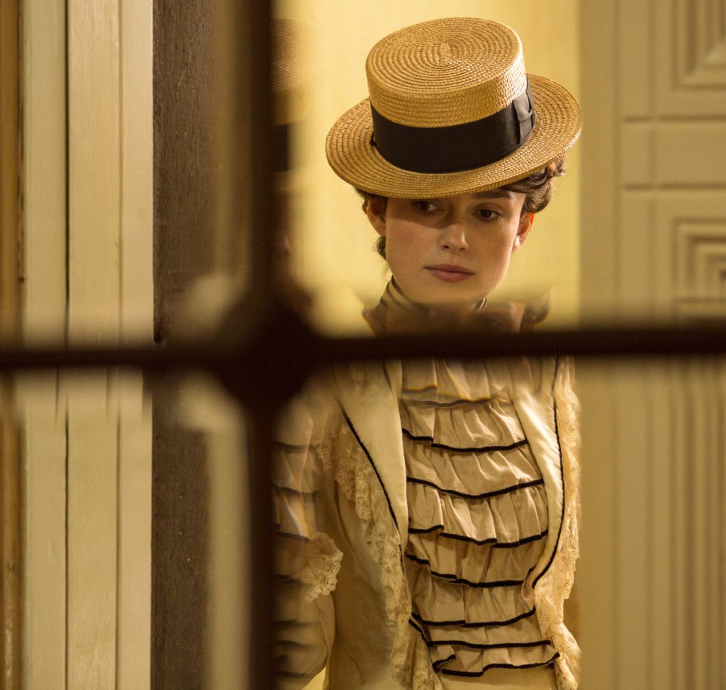 """Keira Knightley in a scene from """"Colette."""" Production on the film was delayed for a year when Knightley took a break after the birth of her daughter."""