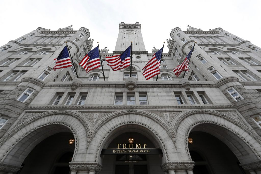 President Trump's business, which he still owns, has hosted foreign embassy events and visiting foreign officials at its downtown D.C. hotel.