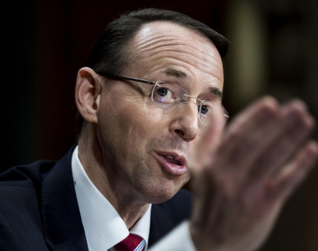 Deputy Attorney General Rod Rosenstein appointed the special counsel and oversees that investigation.
