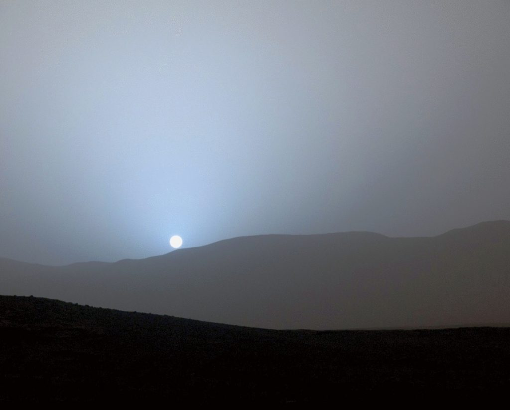 The sun sets on Mars, on Earth date April 15, 2015. What would it do to your mind to see it in person?