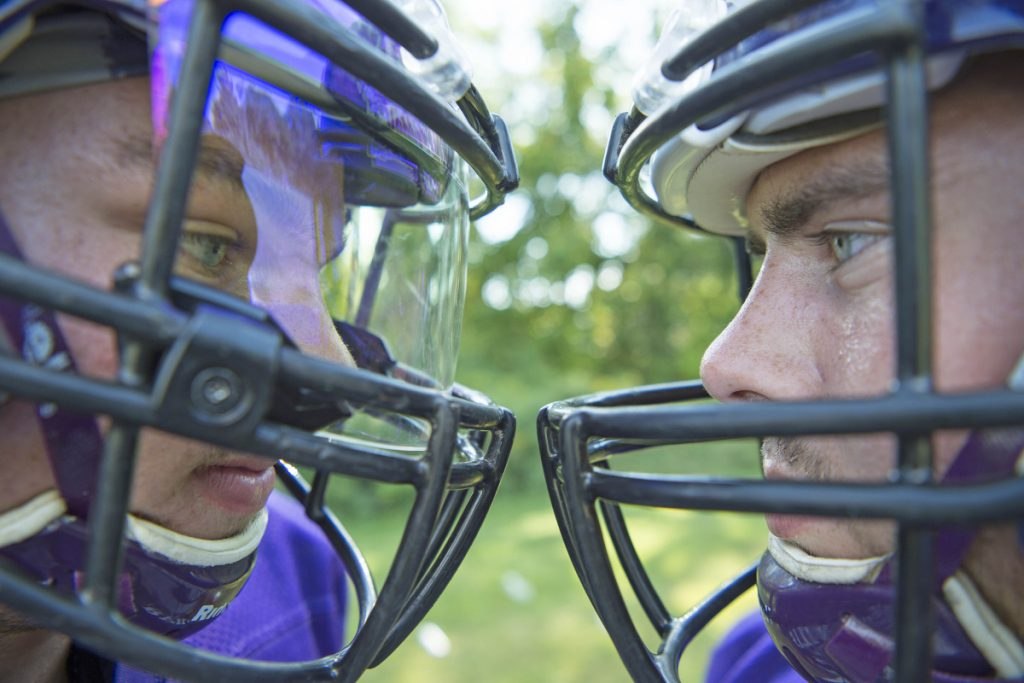 Waterville seniors Cooper Hart and John Evans have started all four years for the Purple Panthers.