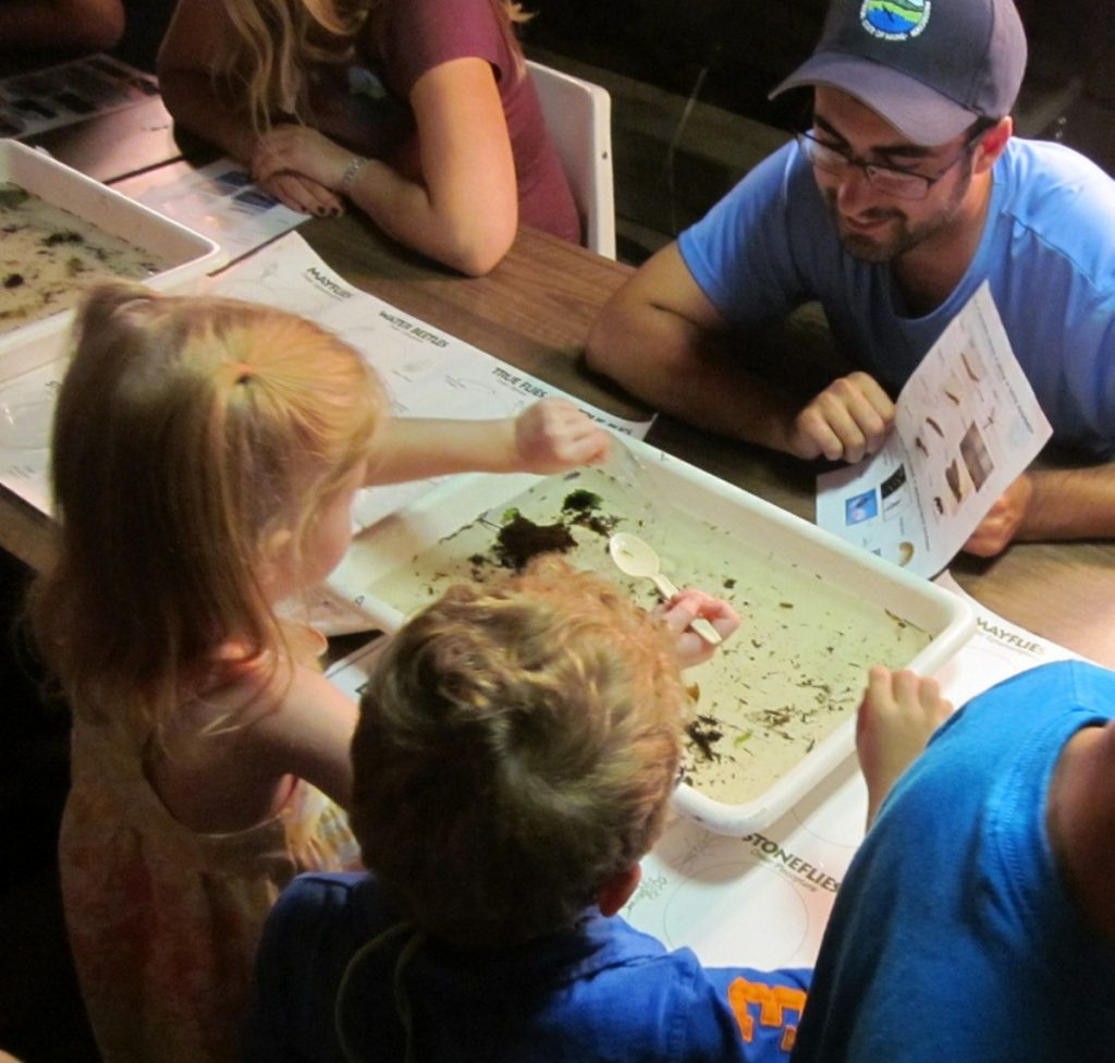 "Students explore ""Bugs Down Under""  with Maine Department of Environmental Protection."